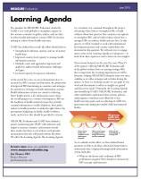 Learning Agenda