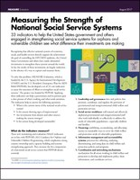 National Social Service Strength Fact Sheet Cover