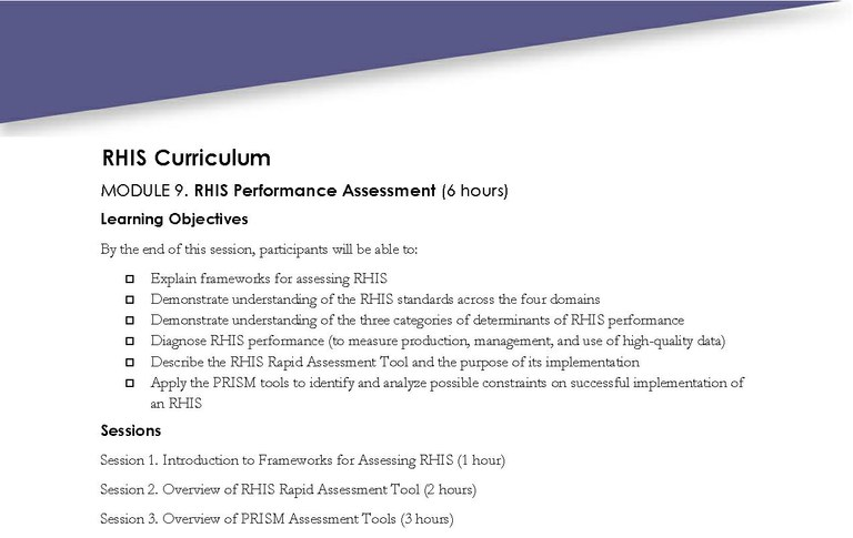 Module  Rhis Performance Assessment  Measure Evaluation