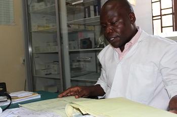Moses Otieno, a participant in MEval-PIMA's malaria surveillance training