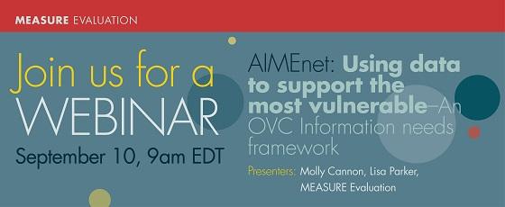 AIMEnet OVC Information Needs Framework Webinar