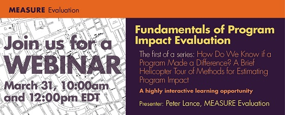 Fundamentals of Program Impact Evaluation Webinar