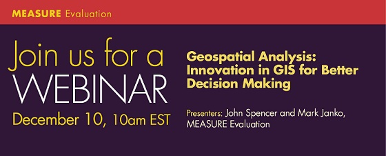 Geospatial Analysis Webinar