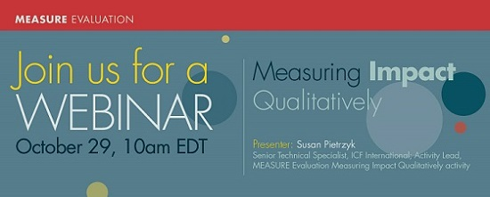 Measuring Impact Quantitatively Webinar