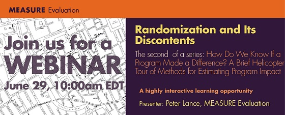 Randomization and Its Discontents Webinar Banner