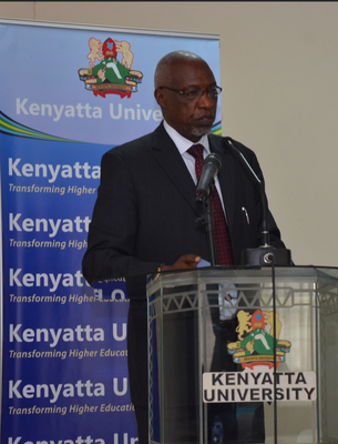 Vice Chancellor of Kenyatta University, Professor Paul Wainaina, opened the training session on appropriate application of information communication technologies to health programs. Photo by MEASURE Evaluation.