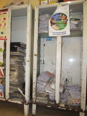 Patient register storage at Donka Hospital. Photo by Scott, McKeown.