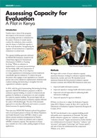 Assessing Capacity for Evaluation: A Pilot in Kenya