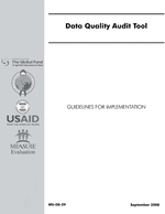 Data Quality Audit: Guidelines and Templates