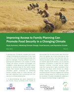 Improving Access to Family Planning Can Promote Food Security in a Changing Climate