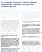 PRH Summaries: Strategies for Addressing Intimate Partner Violence in Health Care Settings in Haiti: Provider Perspectives