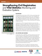 Strengthening Civil Registration and Vital Statistics Monitoring and Evaluation Systems
