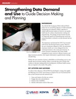 Strengthening Data Demand and Use to Guide Decision Making and Planning