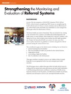 Strengthening the Monitoring and Evaluation of Referral Systems