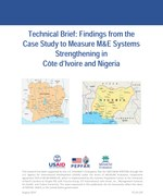 Technical Brief: Findings from the Case Study to Measure M&E Systems Strengthening in Côte d'Ivoire and Nigeria
