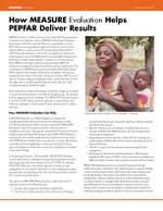 How MEASURE Evaluation Helps PEPFAR Deliver Results