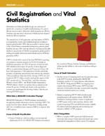 Civil Registration and Vital Statistics
