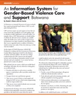 An Information System for Gender-Based Violence Care and Support: Botswana