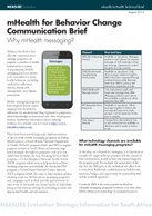 mHealth for Behavior Change Communication Brief: Why mHealth messaging?