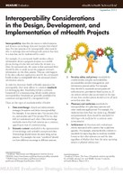 Interoperability Considerations in the Design, Development, and Implementation of mHealth Projects
