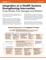 Integration as a Health Systems Strengthening Intervention: Case Studies from Senegal and Malawi