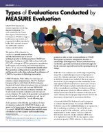 Types of Evaluations Conducted by MEASURE Evaluation