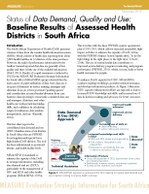 Status of Data Demand, Quality and Use: Baseline Results of Assessed Health Districts in South Africa