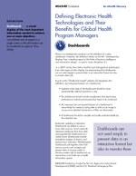 Defining Electronic Health Technologies and Their Benefits for Global Health Program Managers: Dashboards