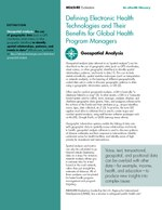 Defining Electronic Health Technologies and Their Benefits for Global Health Program Managers: Geospatial Analysis