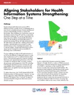 Aligning Stakeholders for Health Information Systems Strengthening: One Step at a Time