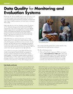 Data Quality for Monitoring and Evaluation Systems