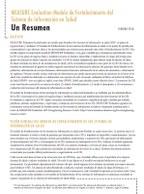 MEASURE Evaluation Modelo de Fortalecimiento del Sistema de Información en Salud: Un Resumen