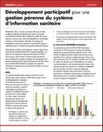 Développement participatif pour une gestion pérenne du système d'information sanitaire