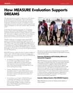 How MEASURE Evaluation Supports DREAMS