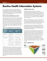 Routine Health Information Systems