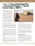 Criteria for Successful Integration of Community Health and Social Service Data in DHIS 2