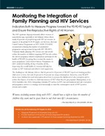 Monitoring the Integration of Family Planning and HIV Services: Indicators Both to Measure Progress toward the 90-90-90 Targets and Ensure the Reproductive Rights of All Women