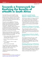 Towards a Framework for Realising the Benefits of eHealth in South Africa