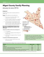 Migori County Family Planning – January to June 2016