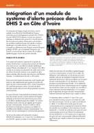 Intégration d'un module de système d'alerte précoce dans le DHIS 2 en Côte d'Ivoire