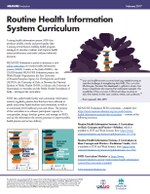 Brief on the Routine Health Information System Curriculum