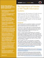 The Importance of Gender in HIV Health Information Systems