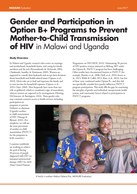 Gender and Participation in Option B+ Programs to Prevent Mother-to-Child Transmission of HIV in Malawi and Uganda
