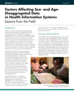 Factors Affecting Sex- and Age-Disaggregated Data in Health Information Systems – Lessons from the Field