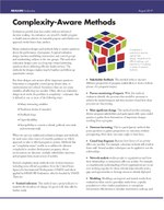 Complexity-Aware Methods