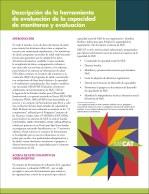 Descripción de la herramienta de evaluación de la capacidad de monitoreo y evaluación