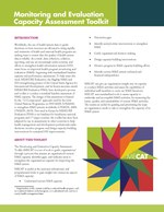 Monitoring and Evaluation Capacity Assessment Toolkit: Overview