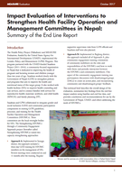 Impact Evaluation of Interventions to Strengthen Health Facility Operation and Management Committees in Nepal: Summary of the End Line Report