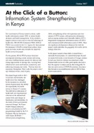 At the Click of a Button: Information System Strengthening in Kenya
