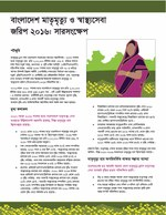 Bangladesh Maternal Mortality and Health Care Survey 2016: Summary (Bengali Version)